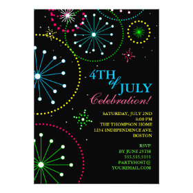 4th of July Fireworks Party Invitation