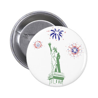 4th of July Fireworks Pinback Button