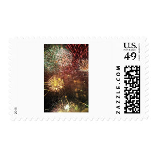 4th of July Fireworks Stamp