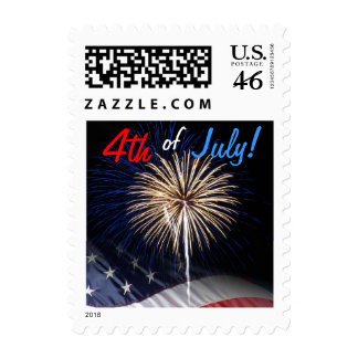 4th of July Fireworks Postage Stamps