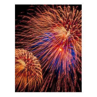 4th of July Fireworks Postcard