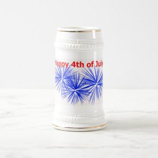 4th of July Fireworks Stein