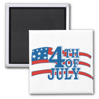 4TH OF July flag 2 Inch Square Magnet