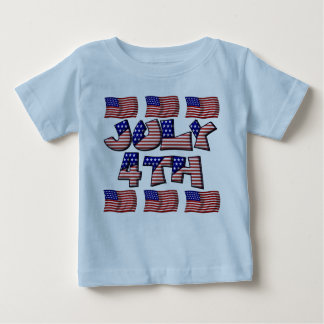 4th of July Flag Baby T-Shirt