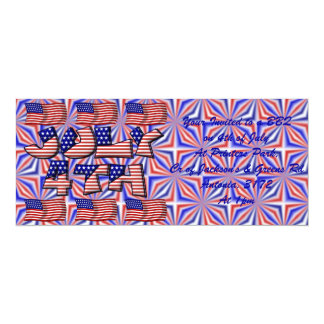 4th of July Flag Card