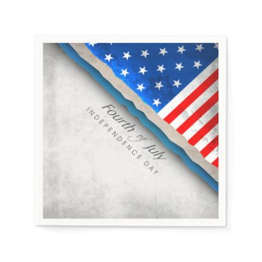 USA Themed 4th of July Flag - Independence Day Napkin
