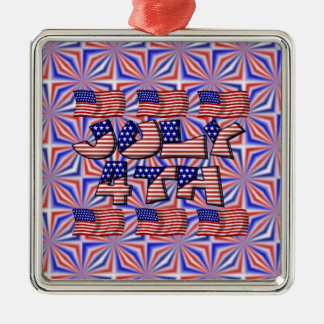 4th of July Flag Metal Ornament