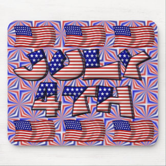 4th of July Flag Mouse Pad