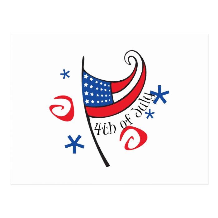 4th of July Flag Postcard
