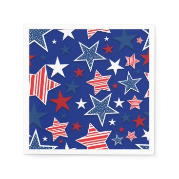 USA Themed 4th of July Fun - Blue Napkin