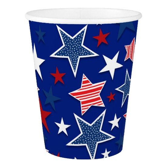4th of July Fun - Blue Paper Cup