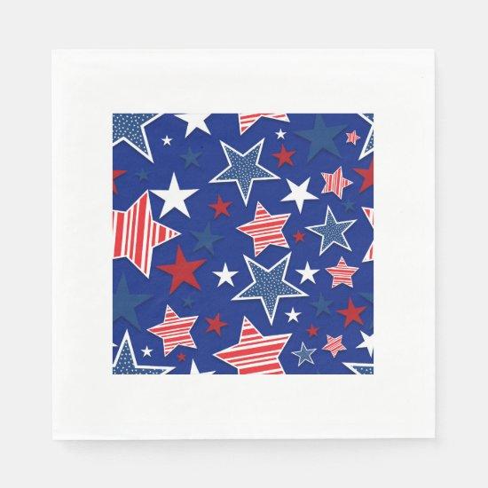 4th of July Fun - Blue Paper Napkin