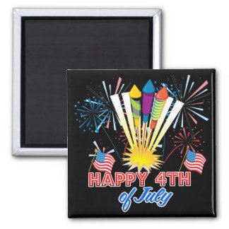 4th of July Fun Fireworks Refrigerator Magnet
