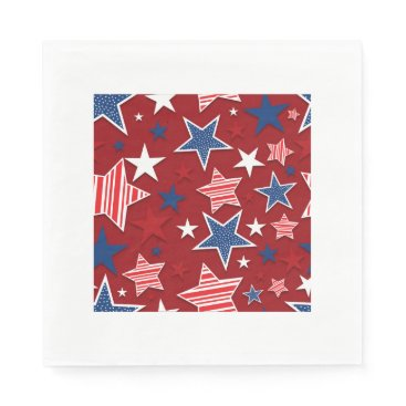 USA Themed 4th of July Fun - Red Napkin