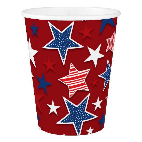 4th of July Fun - Red Paper Cup