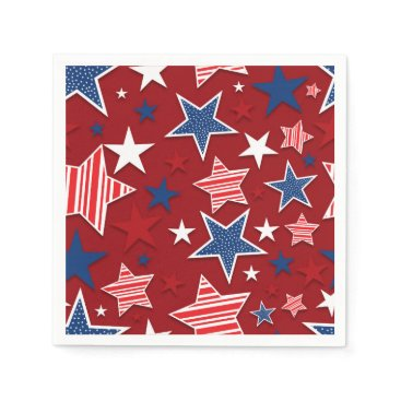 USA Themed 4th of July Fun - Red Paper Napkin