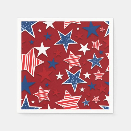 4th of July Fun - Red Paper Napkin