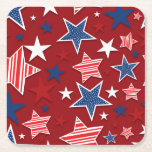 """4th of July Fun - Red Square Paper Coaster<br><div class=""""desc"""">4th of July Fun - Red Paper Coasters - Choose round or square - Coordinating Paper Goods are available in our Store</div>"""
