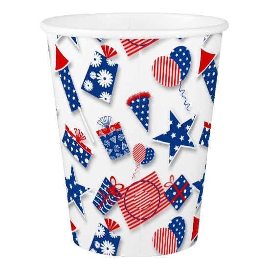 4th of July Fun - White (2) Paper Cup