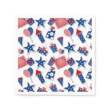 USA Themed 4th of July Fun - White (2) Paper Napkin