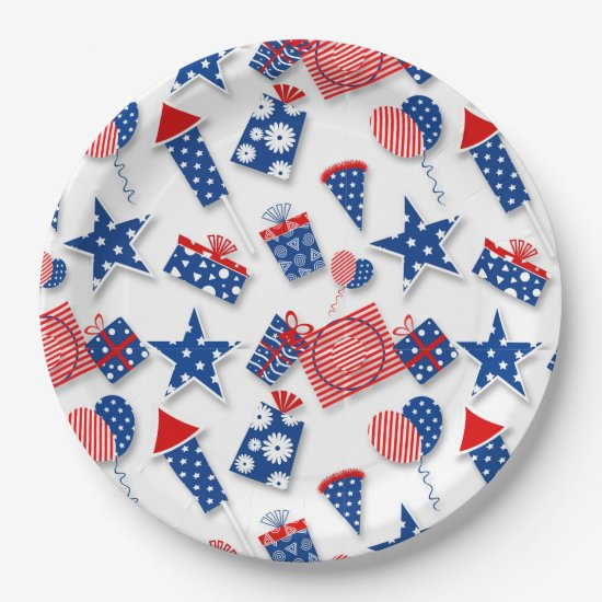 4th of July Fun - White (2) Paper Plate