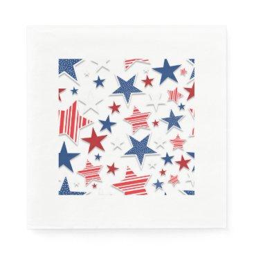 USA Themed 4th of July Fun - White Napkin