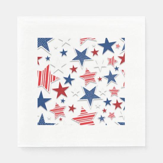 4th of July Fun - White Napkin