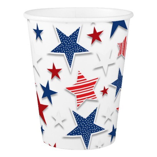4th of July Fun - White Paper Cup