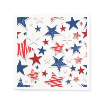 USA Themed 4th of July Fun - White Paper Napkin