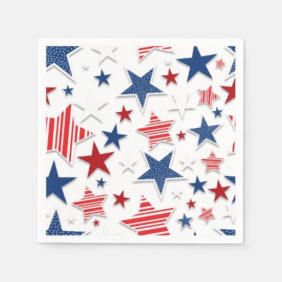 4th of July Fun - White Paper Napkin
