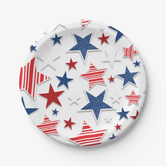 4th of July Fun - White Paper Plate