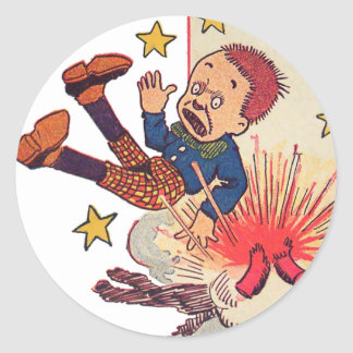 4th of July Gene Carr Illustration Classic Round Sticker