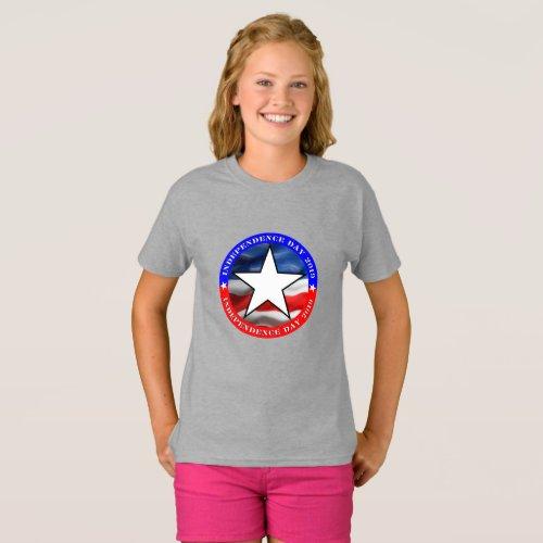 4th Of July  Girls Basic T_Shirt