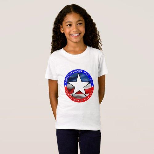 4th Of July  Girls Fine Jersey T_Shirt
