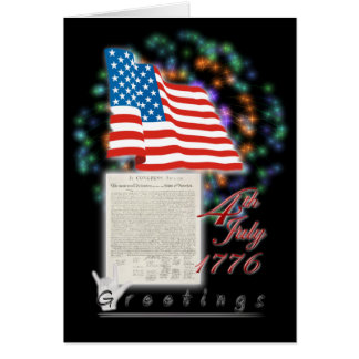 4th of July greetings Greeting Card