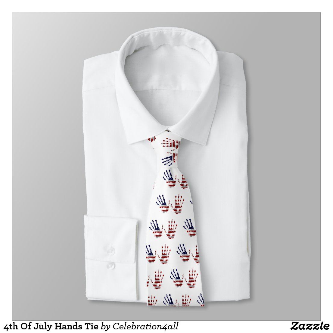 4th Of July Hands Tie