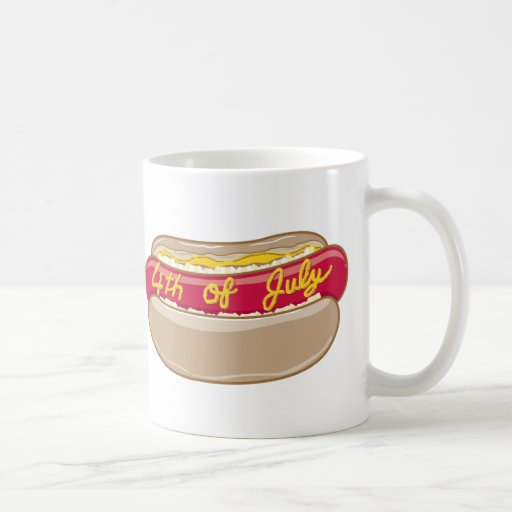4th of July Hotdog Mugs