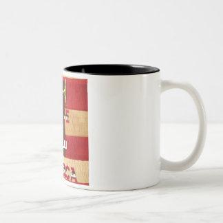 4th Of July...I Love You America Two-Tone Coffee Mug