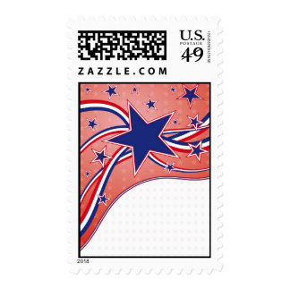 4th of July - Indepedence Day Postage Stamp