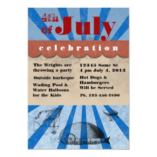 4th of July Independce Day Barbeque 5x7 Paper Invitation Card