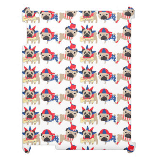 4th of July Independece Day Pugs Case For The iPad 2 3 4