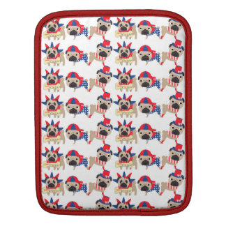 4th of July Independece Day Pugs iPad Sleeve