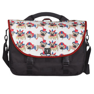 4th of July Independece Day Pugs Laptop Bag