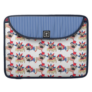 4th of July Independece Day Pugs MacBook Pro Sleeve