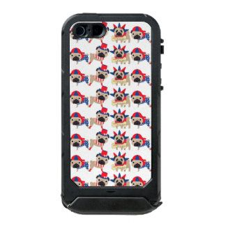 4th of July Independece Day Pugs Waterproof Case For iPhone SE/5/5s