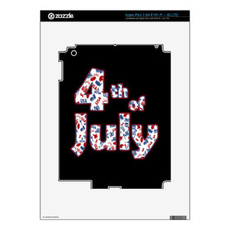 4th of July Independence Day Decal For iPad 3