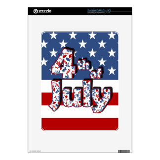 4th of July Independence Day iPad Skin