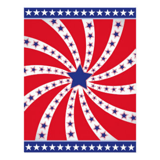 4th of July - Independence Day Letterhead
