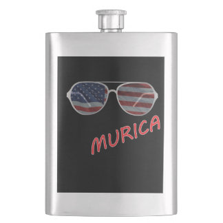 4th of July Independence Day Murica 2 Flask