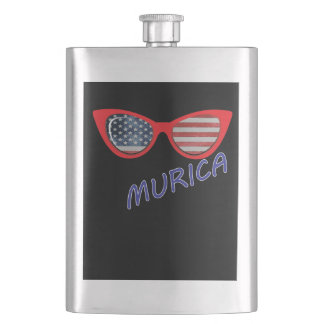 4th of July Independence Day Murica Flask